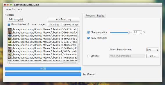 EasyImageSizer Ubuntu 画像編集 画像変換
