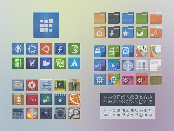 Evolbuntu Icon theme Ubuntu アイコンテーマ サンプル
