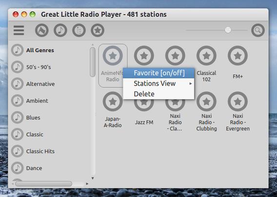 Great Little Radio Player Ubuntu 14.04 インターネットラジオ お気に入り