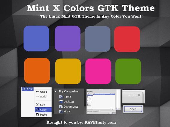 Mint X Colors Theme Ubuntu Cinnamon テーマ カラーバリエーション