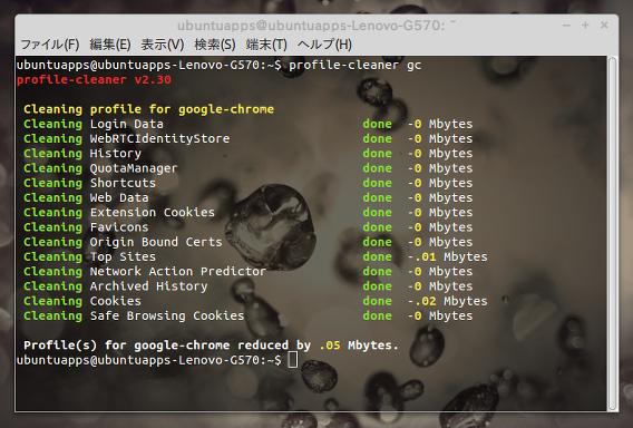 Profile-cleaner Ubuntu ブラウザ 高速化 コマンド
