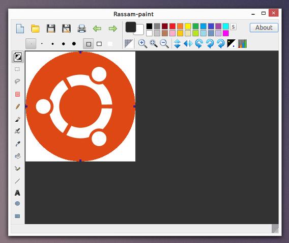 Rassam-paint Ubuntu ペイントソフト