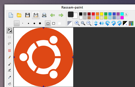 Rassam-paint Ubuntu ペイントソフト ツール