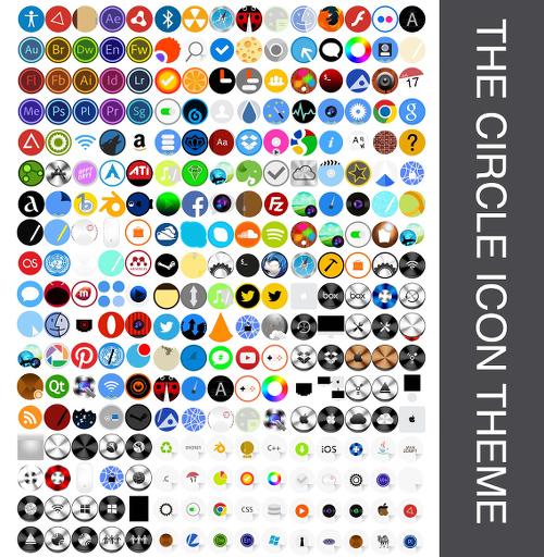 The Circle Ubuntu アイコン サンプル