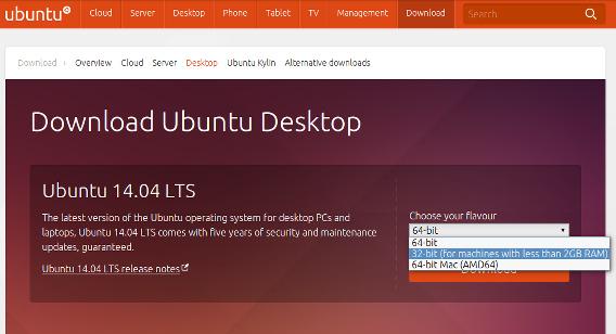 Ubuntu 14.04 ダウンロード