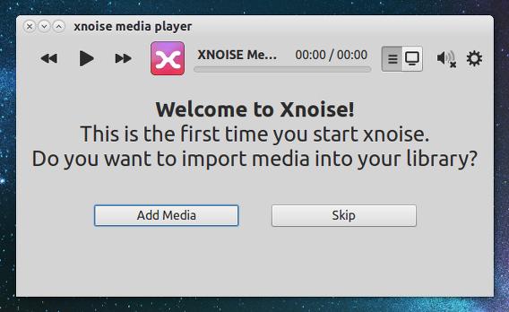 Xnoise Media Player 0.2 Ubuntu 音楽フォルダの選択
