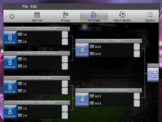 iCup 2014 Brazil for Linux Ubuntu ワールドカップ 決勝トーナメント